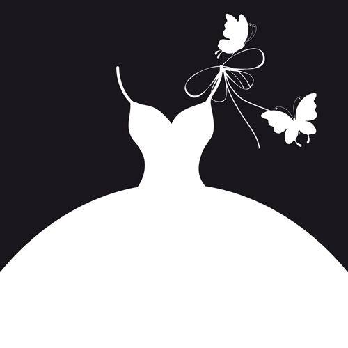 Beautiful-wedding-dress-silhouette-design-vector-02.jpg ...