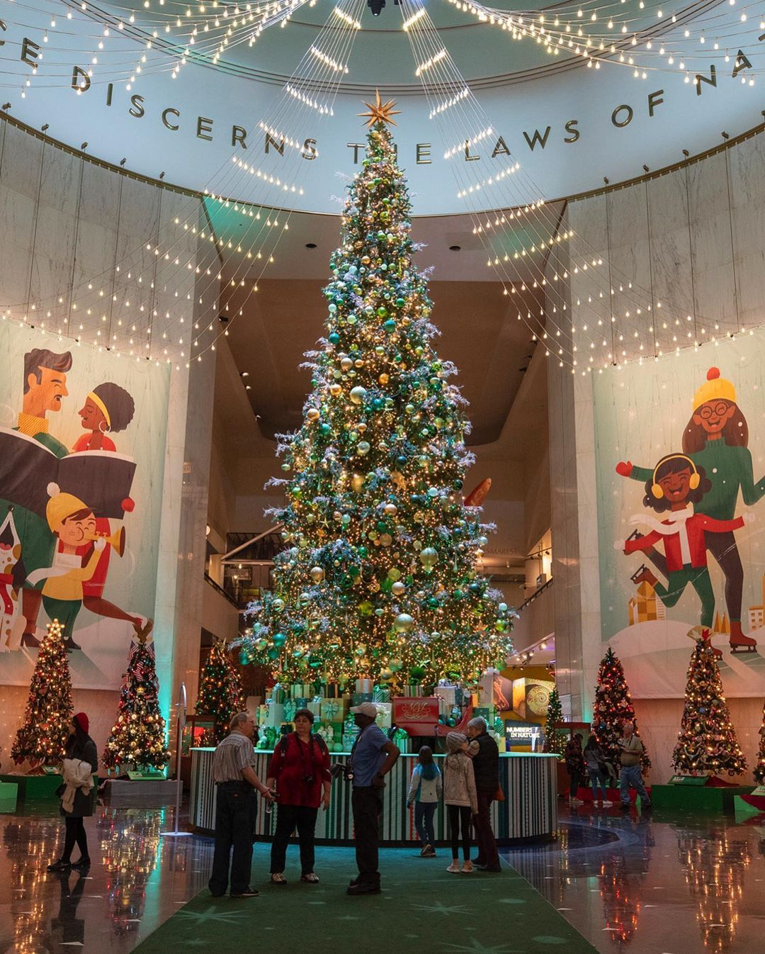"""Chicago Bucket List on Instagram: """"The Iconic Christmas Around The World and Holidays of Light is BACK at @MSIchicago - Who wants to go?! 🎄🧬Highlighting holiday trees and…"""""""