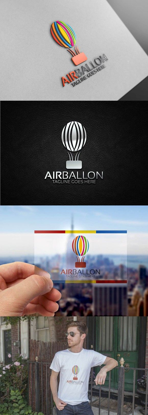 Air Balloon Logo. Logo Templates