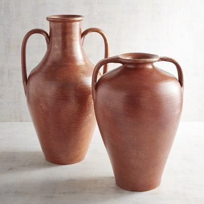 Terracotta Burnt Orange Vases Pier 1 Imports Hudson Lower Level