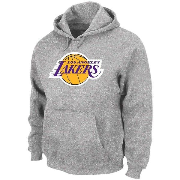 282f70c85f83 Big   Tall Los Angeles Lakers Pullover Fleece Hoodie (€54) ❤ liked on  Polyvore featuring men s fashion, men s clothing, men s hoodies, grey, mens  grey ...