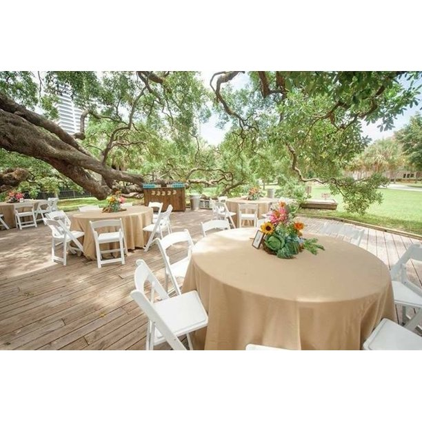 120 Round Natural Burlap Tablecloth Table Cover Wedding Party Catering Walmart Com Burlap Tablecloth Wedding Table Decorations Diy Table Cloth