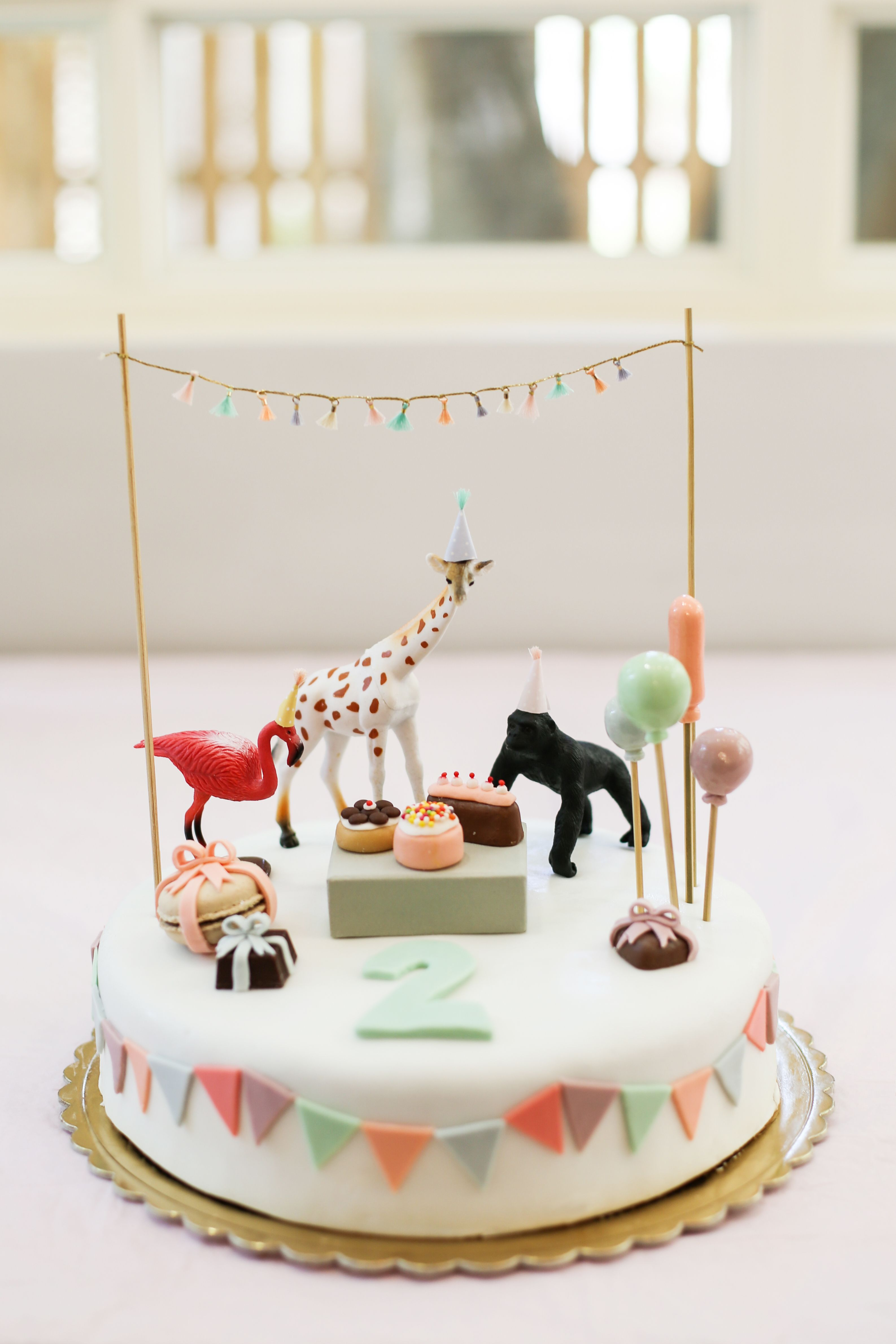 Fantastic Lilys Second Birthday With Images Animal Birthday Cakes Funny Birthday Cards Online Eattedamsfinfo