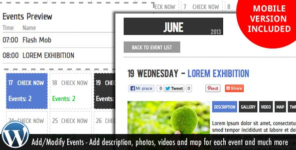 Wp Events Calendar Plugin  CodeScriptsAndPlugins