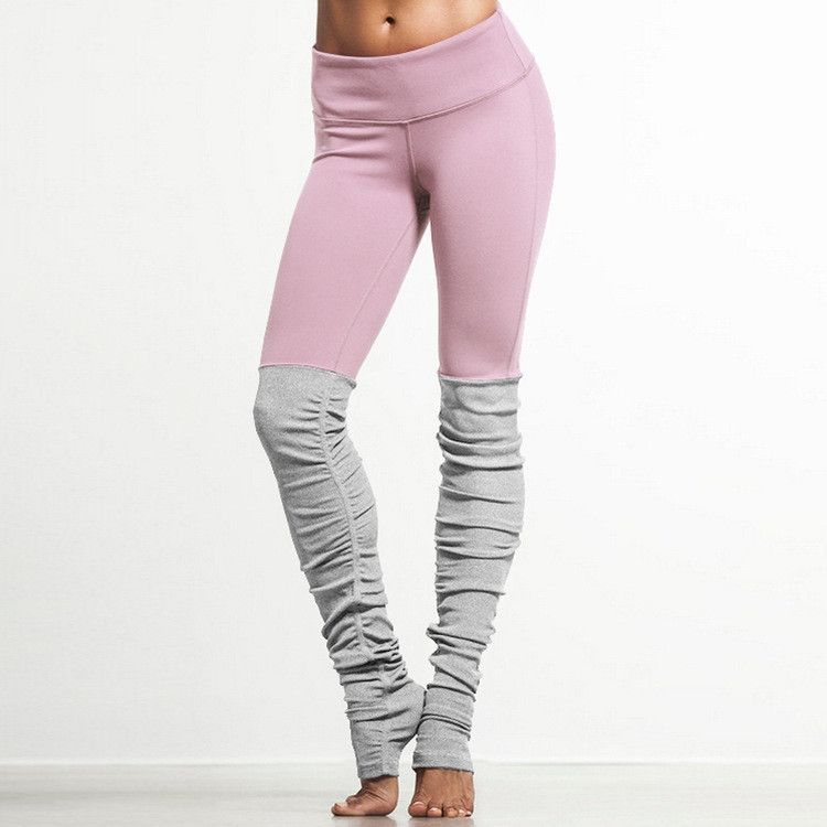 Ribbed Yoga Leggings With Gray #pantswomen