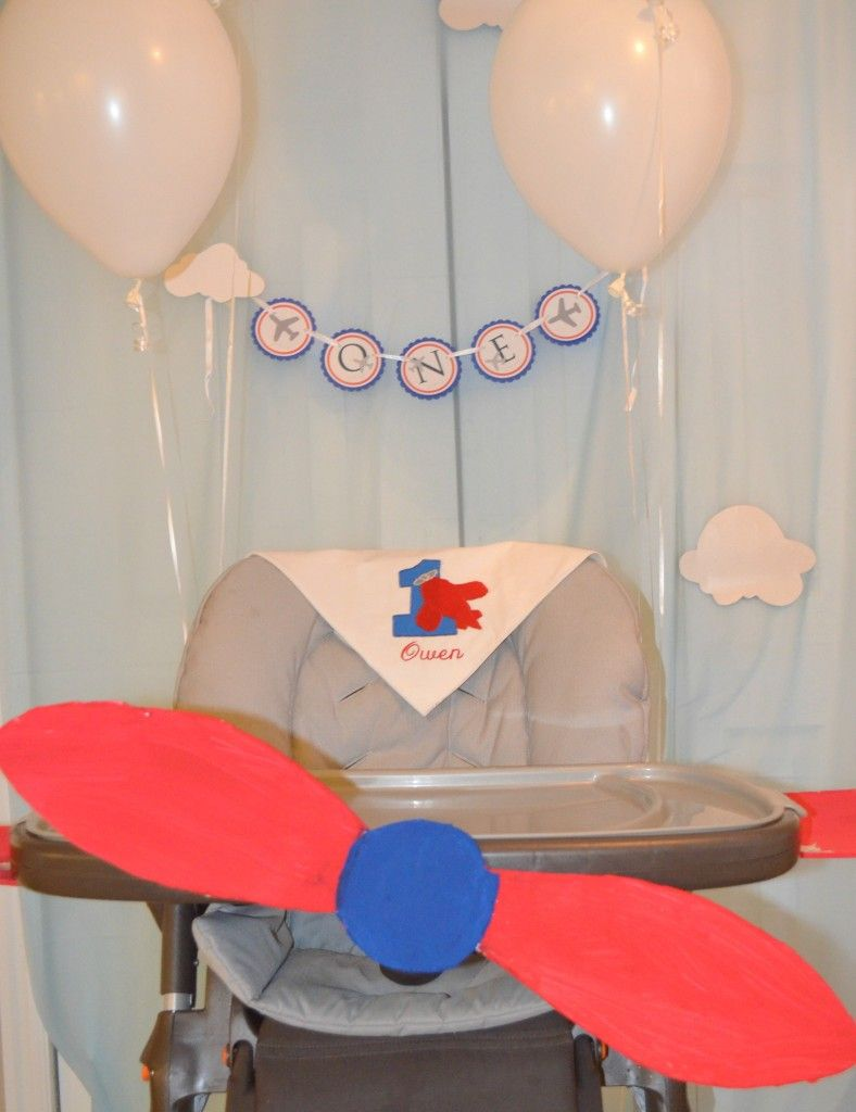 Blue and Red Airplane First Birthday Party Airplanes Birthdays