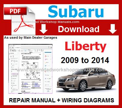 Subaru Liberty Workshop Repair Service Manual & Wiring ... on data sheet pdf, welding diagram pdf, power pdf, body diagram pdf, battery diagram pdf, plumbing diagram pdf,