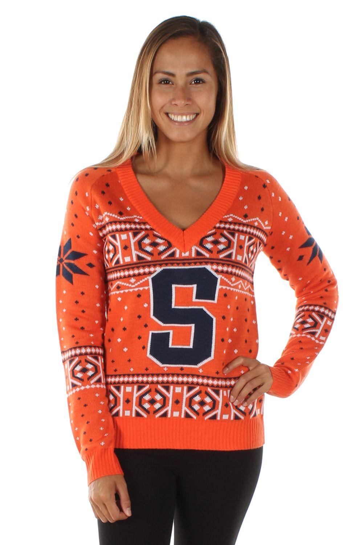 Women\'s College Christmas Sweater: Syracuse University | True to ...
