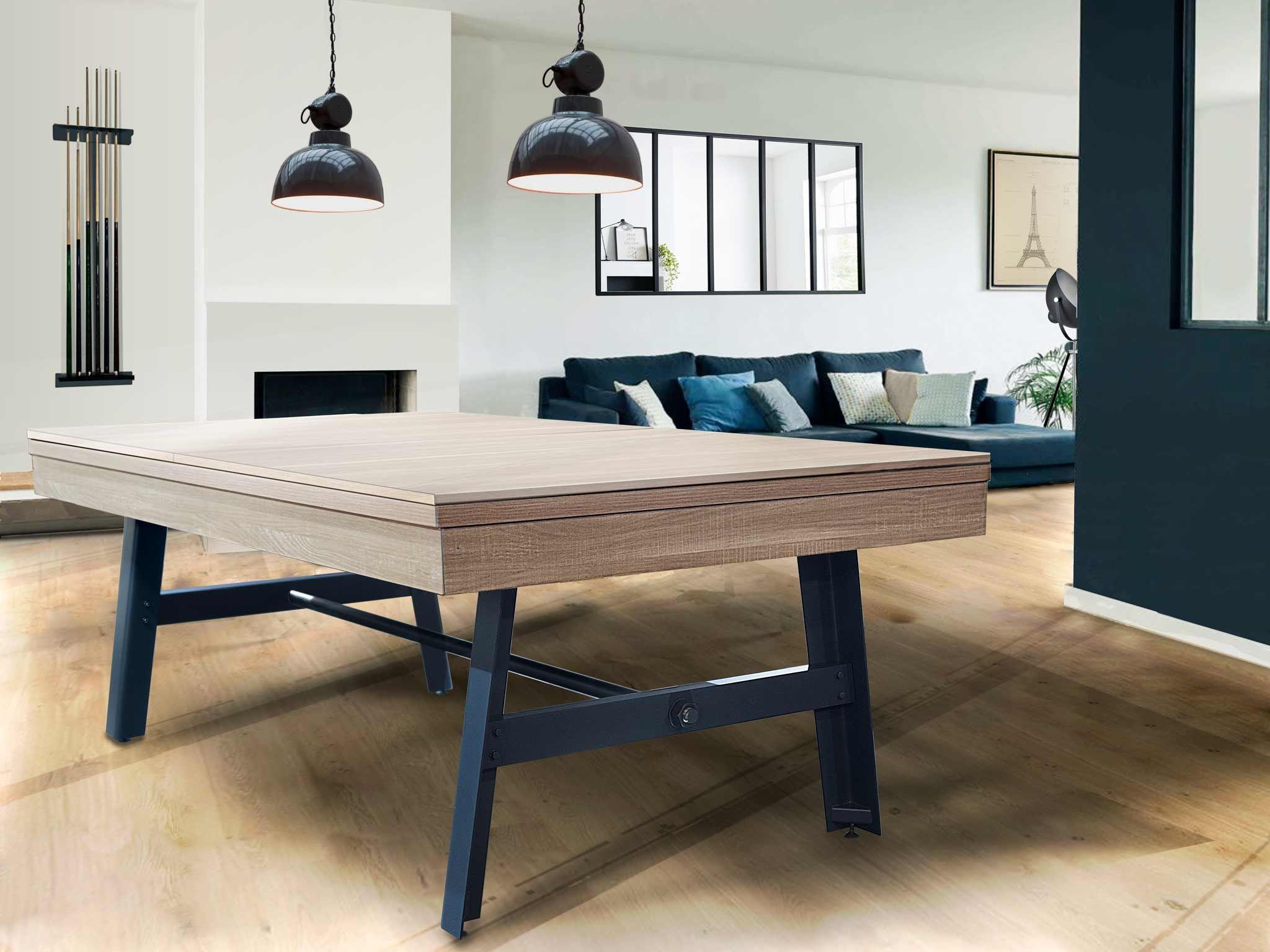 Billard table VINTAGE industriel convertible USFR en