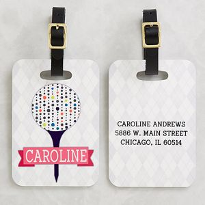 Personalized Golf Bag Tags For Her Sassy Lady 14386