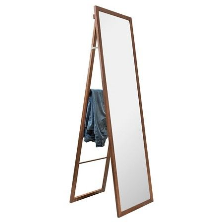 Walnut Wood Ladder Standing Mirror Brown 20 Quot X 65
