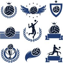 Free Volleyball Vectors Use Them With Heat Transfer Materials And A Heat Press To Ma Logo Illustration Design Logo Illustration Illustration Design