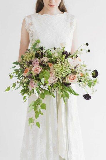 Oversized wedding bouquet, via The White Closet bridal boutique, Didsbury, Manchester.