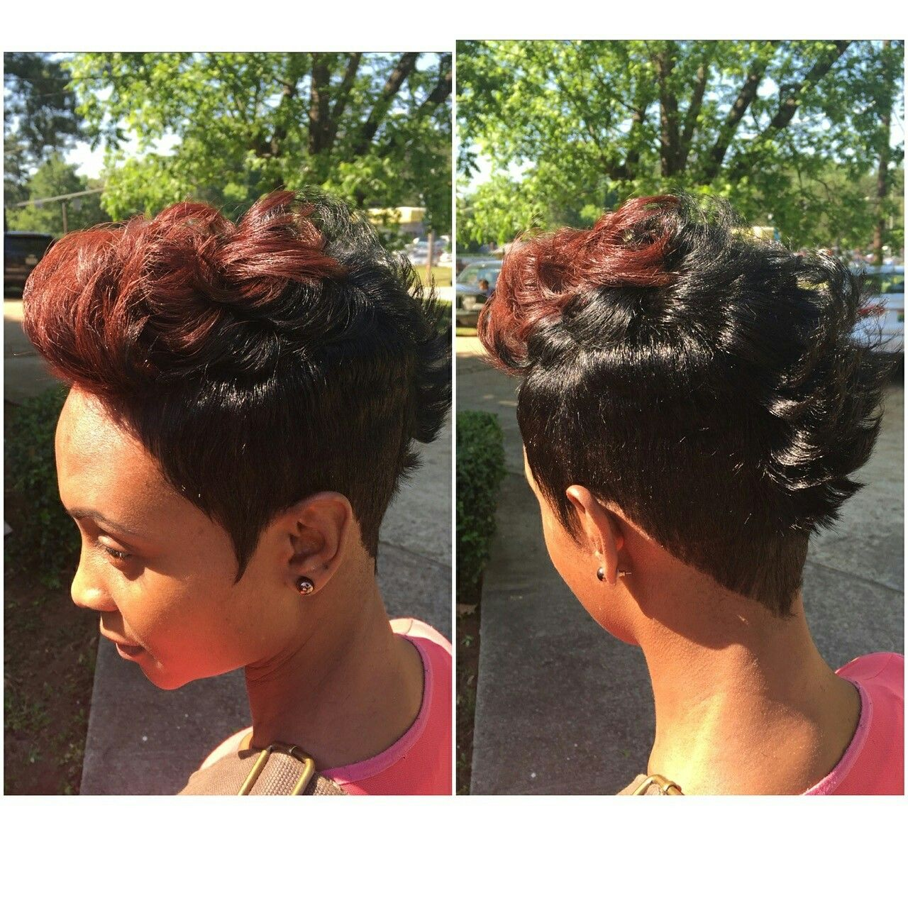 Short sassy mohawk beauty pinterest unisex hair salon and salons