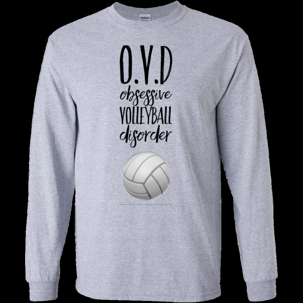O V D Obsessive Volleyball Disorder Ls Tshirt Volleyball Designs Volleyball Sweatshirts Volleyball Tshirts