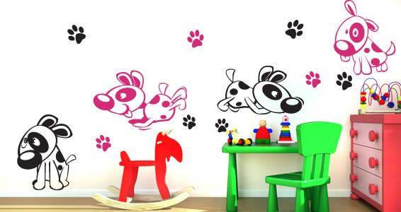 Wall Sticker · Oops Doggy Dog Nursery Decals