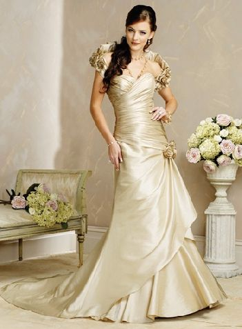 wedding gown tan color