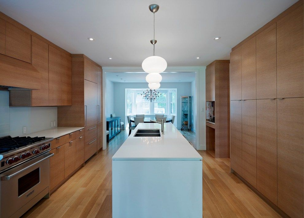 Floor To Ceiling Kitchen Cabinets Modern With Wood Floors Kitchen