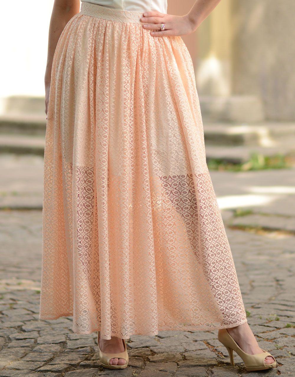 dd27d703218 Long Lace Skirt