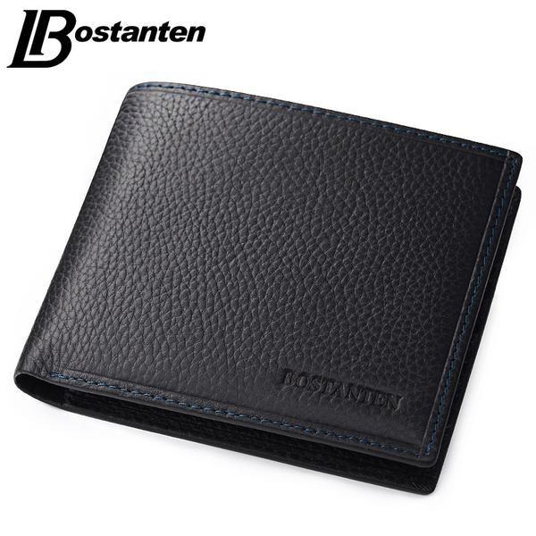 cabdcc4955a4 Bostanten 100% Genuine Leather Mens Wallets Luxury Men Wallets Purse ...