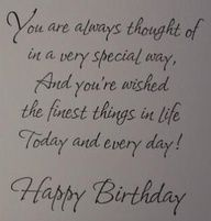 Best Birthday Wishes Quotes For Card Verses Message