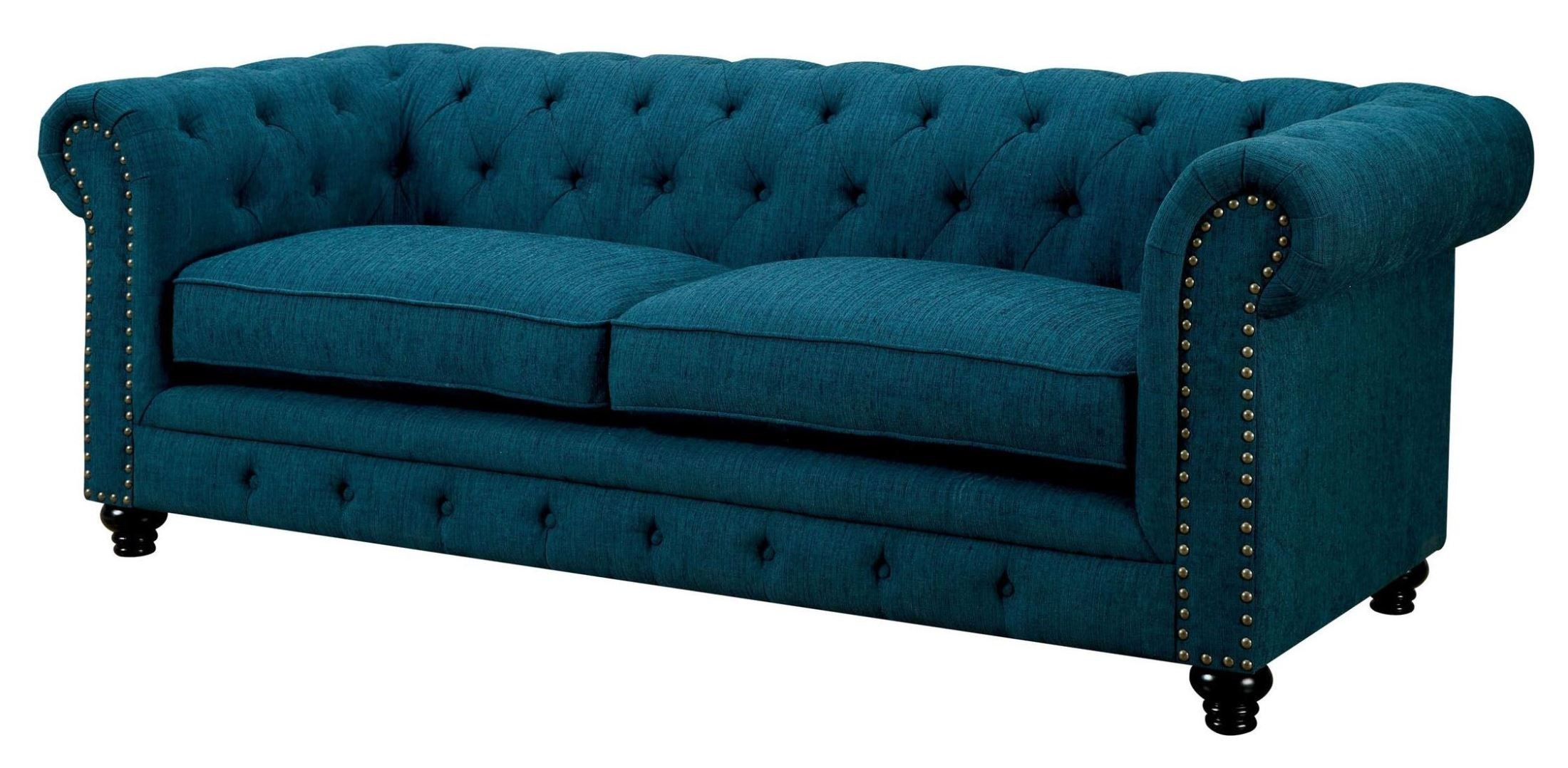 Stanford Dark Teal Fabric Sofa Coleman Furniture