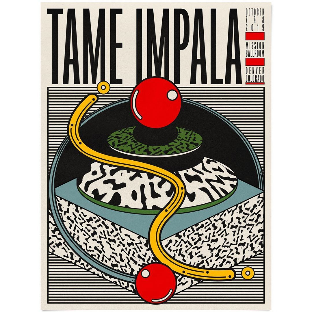 Aaron Lowell Denton On Instagram Poster For Tame Impala In Denver Tame Impala Music Artwork Graphic Design Posters