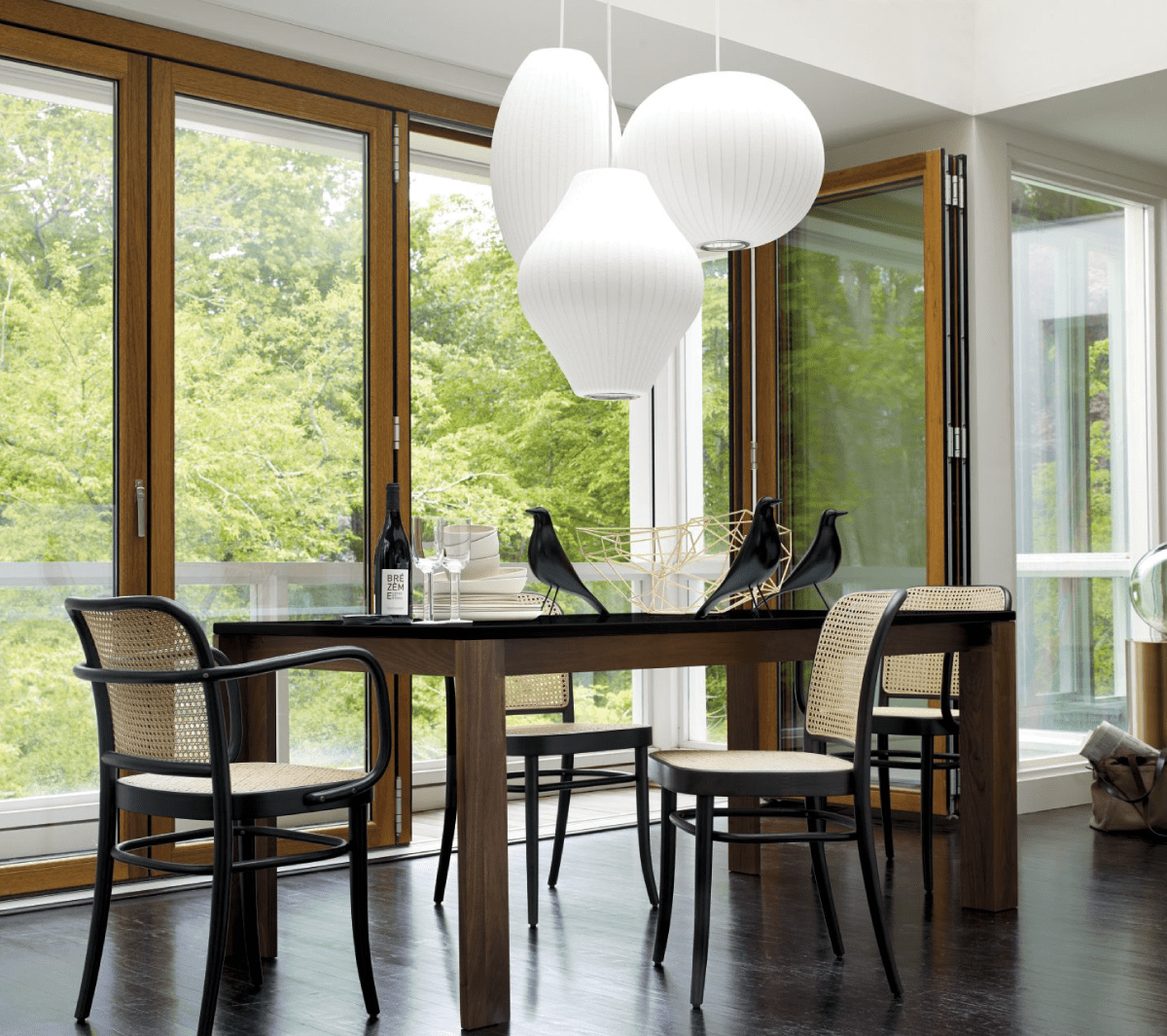 This Pendant Design Is A Stylish Illuminator Suited For Various Spaces In Homes Cafes And Offices Hay Nelson Ci In 2020 Dining Chair Design Eames House Chair Design