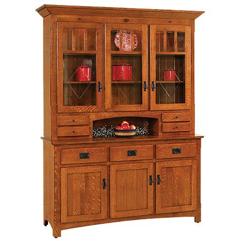 Century Mission Buffet With Optional Hutch Craftsman Kitchen