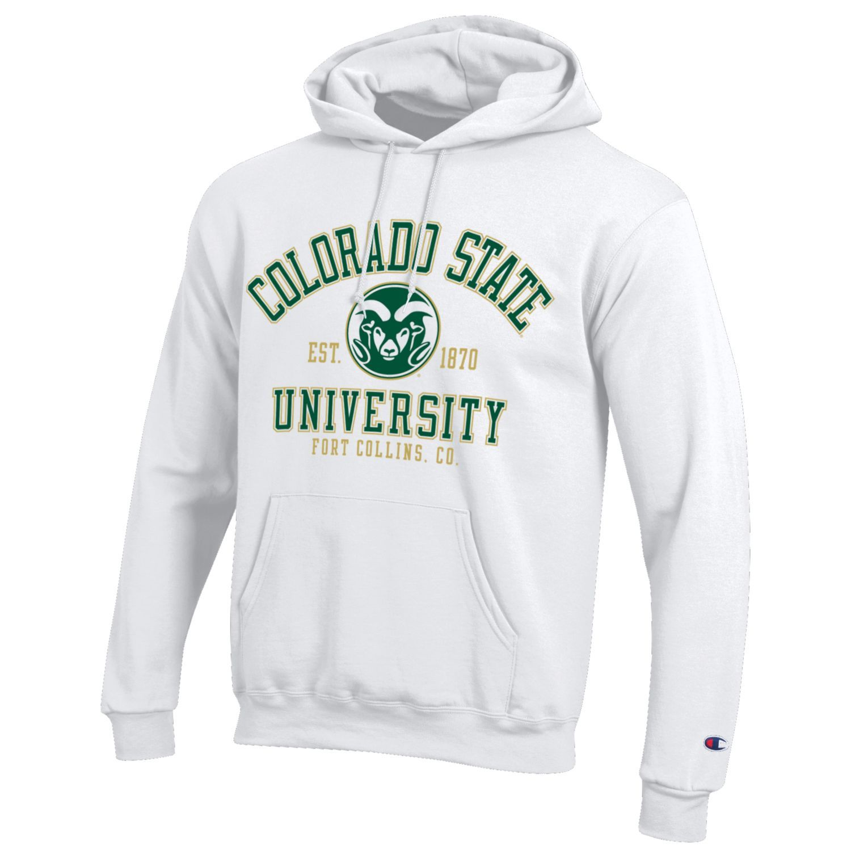 White Champion Colorado State University Hooded Sweatshirt University Hoodies Sweatshirts College Hoodies [ 1500 x 1500 Pixel ]