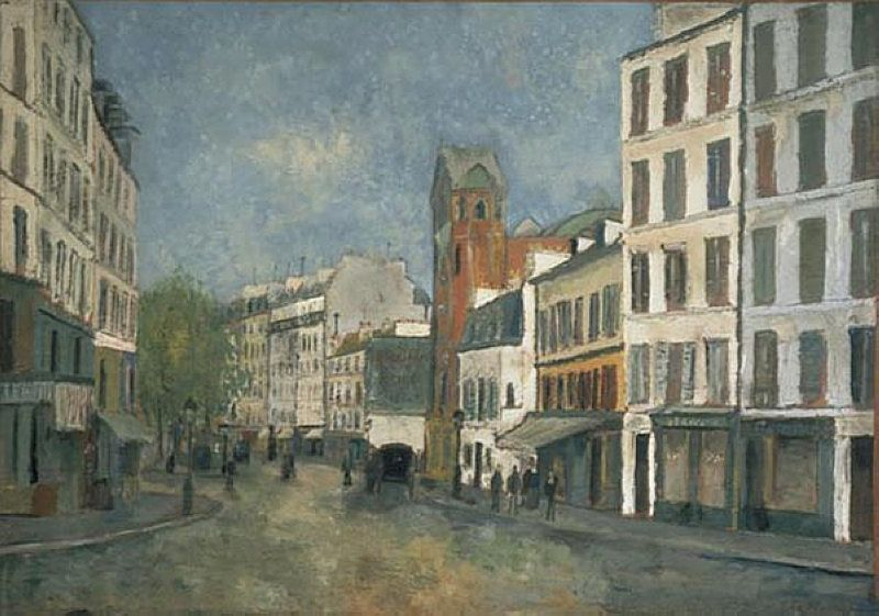 utrillo paintings | Abbesses street - Maurice Utrillo - WikiPaintings.org