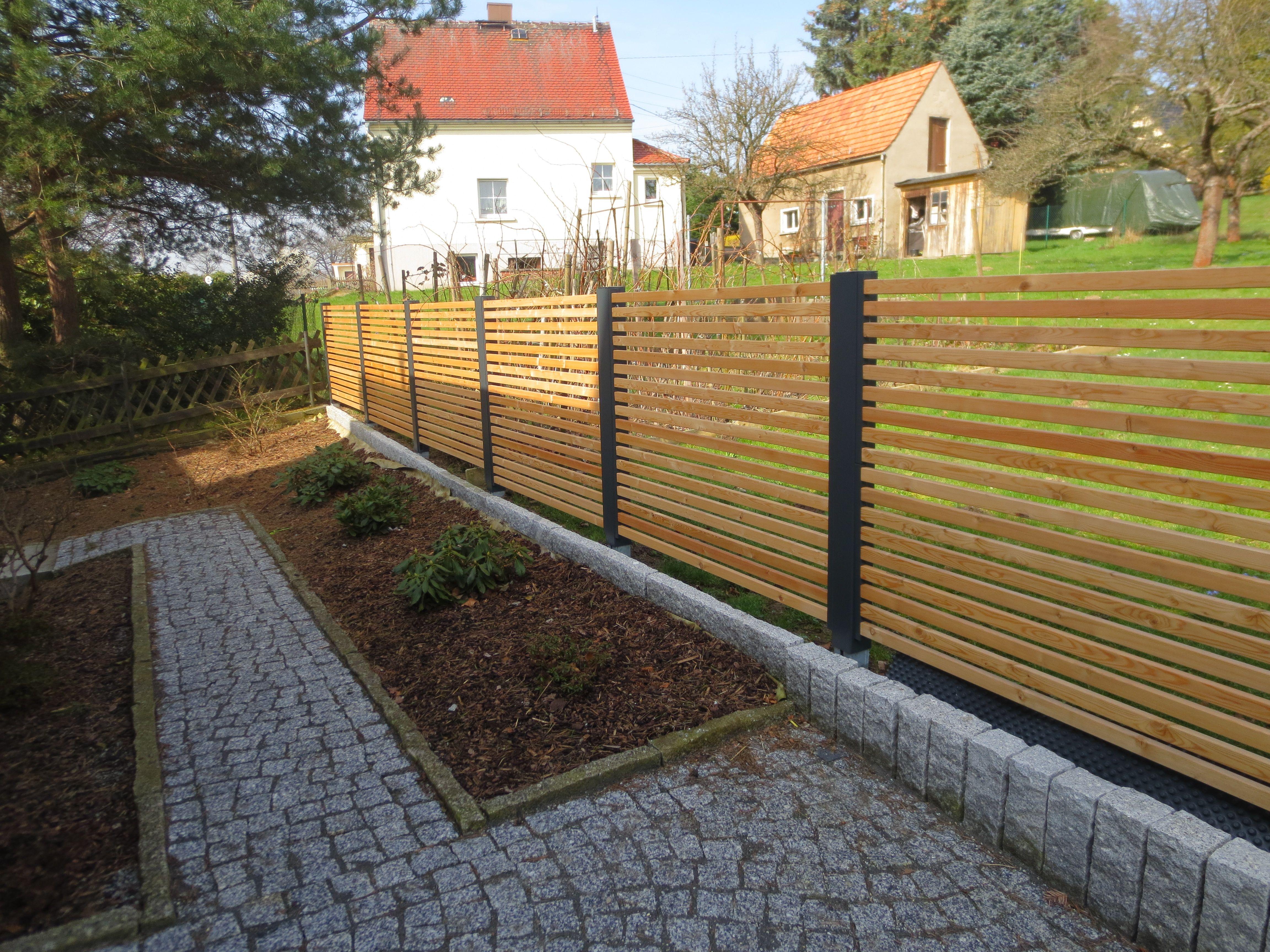 Sichtschutzzaun Stahlzart 2cm Abstand Selbstmontage