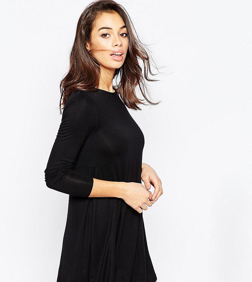 Long sleeved black dress asos