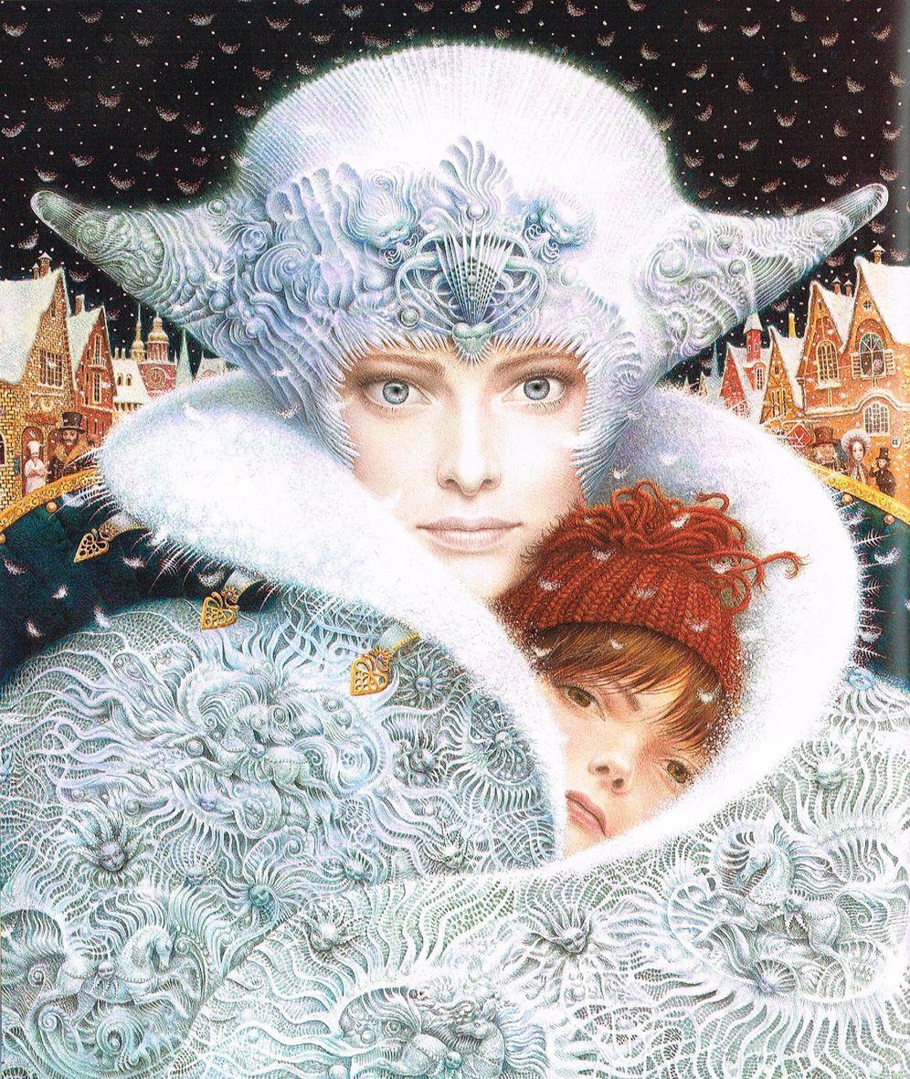 The Snow Queen, Fairy tale illustration (detail) by Kiev artist, Vladislav Erko (Vladyslav Yerko)
