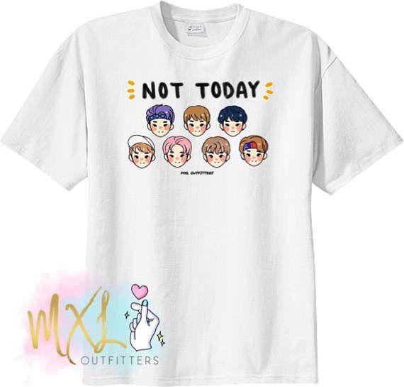 BTS Not Today doodle T-Shirt Design by apurupai  471a7977968