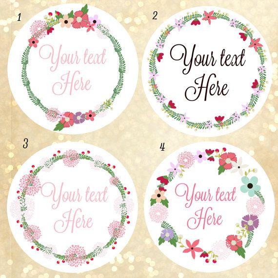 custom logo stickers custom labels wreath of flower labels label design custom