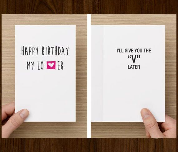 Naughty Funny Birthday Card For Boyfriend Ill By Diamonddonatello