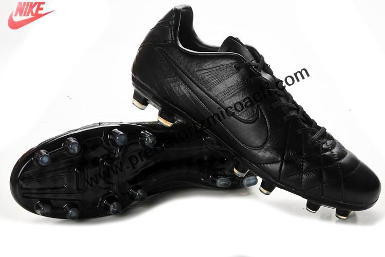 Buy New Nike Tiempo Legend Iv Elite Fg All Black Soccer Boots Shop Black Football Boots Cheap Soccer Shoes Black Sports Shoes