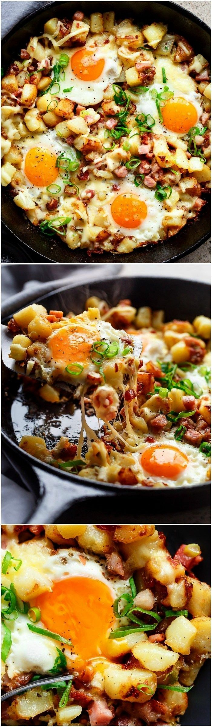 Bacon and Egg Hash for breakfast, brunch, lunch or dinner! Easy to make and ready in 30 minutes --