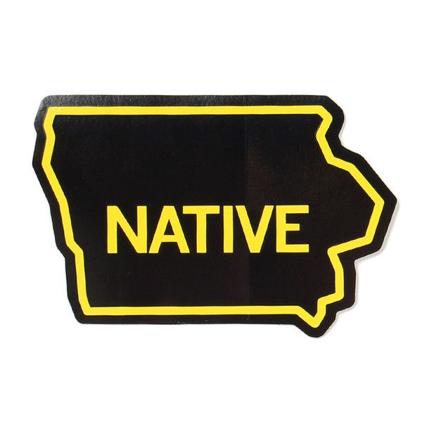 Iowa Native Black Sticker Black Stickers Vinyl Sticker