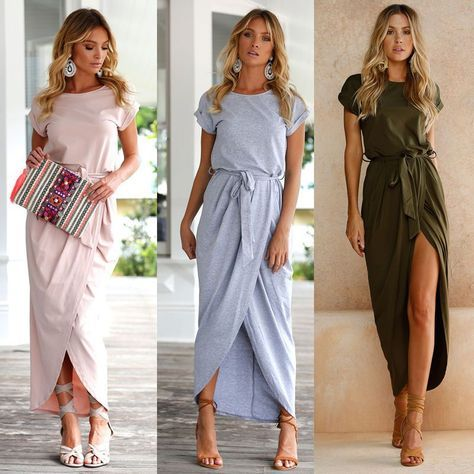 877e0928093 Women Summer Long Maxi Boho Dress Evening. Cocktail Party Beach Dresses  Sundress