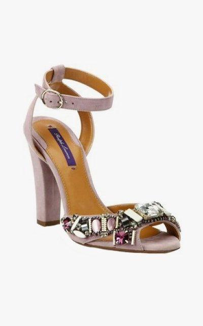 fe35eec15 Ralph Lauren Lacole II jeweled suede ankle-strap sandals