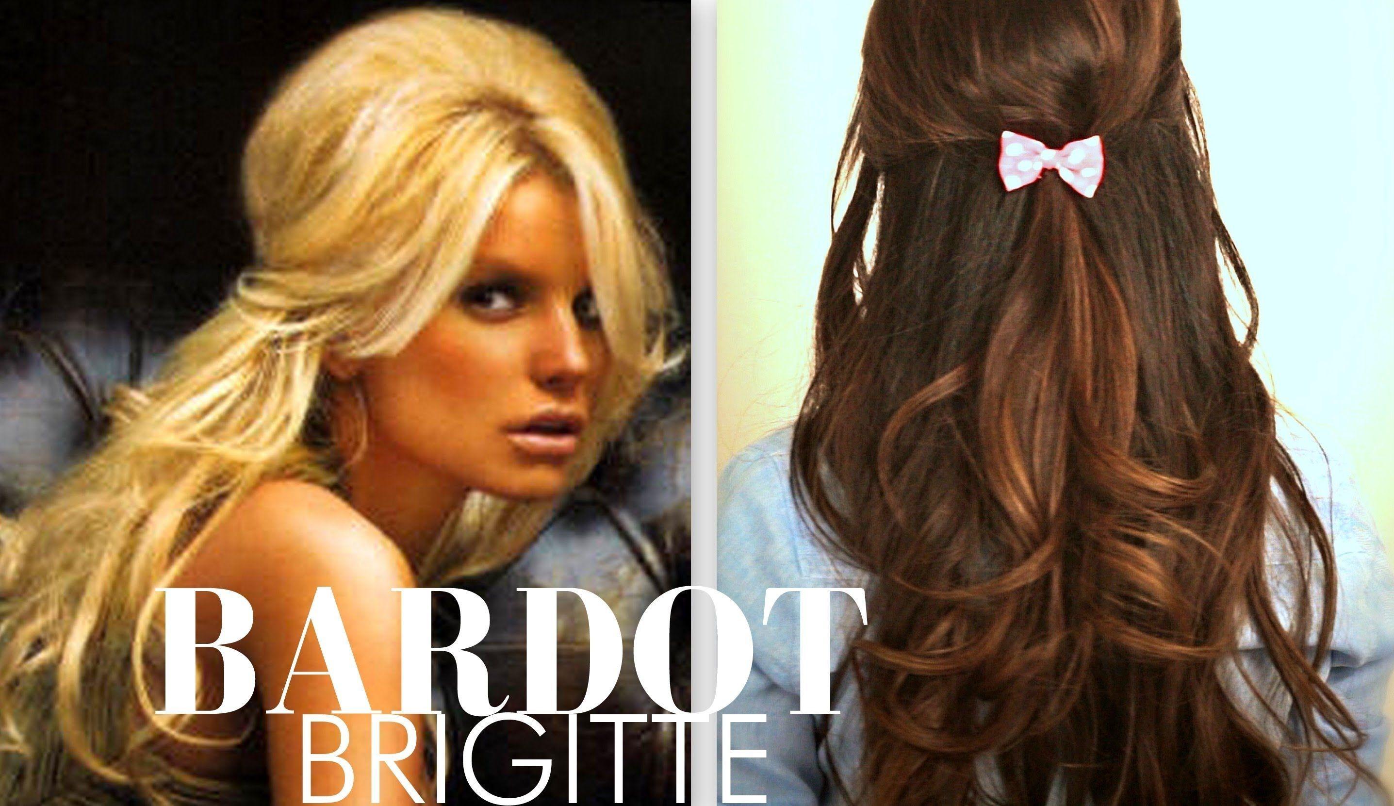 cute brigitte bardot hair tutorial everyday halfup halfdown