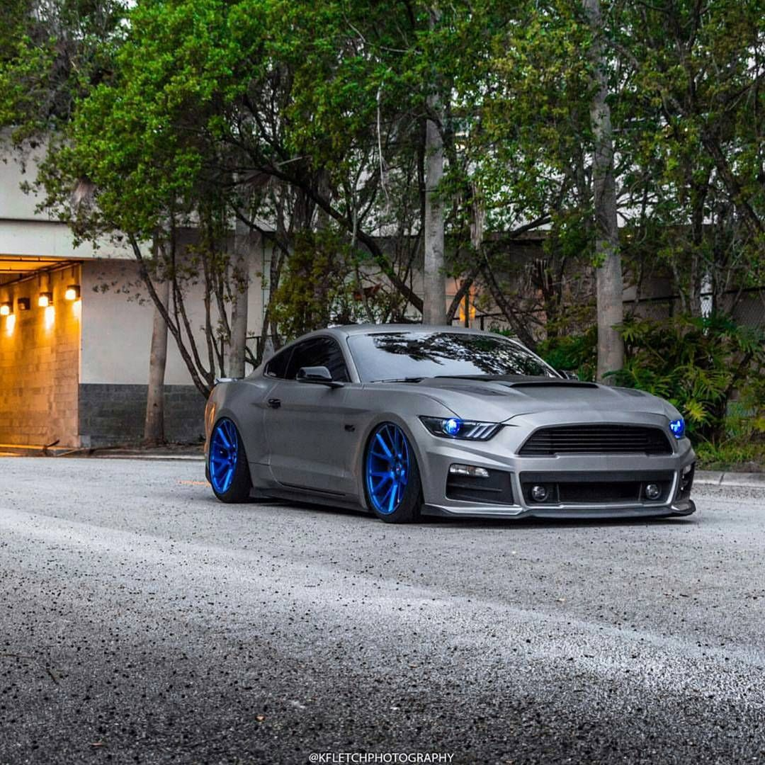 Titanium Wrapped Ford Mustang