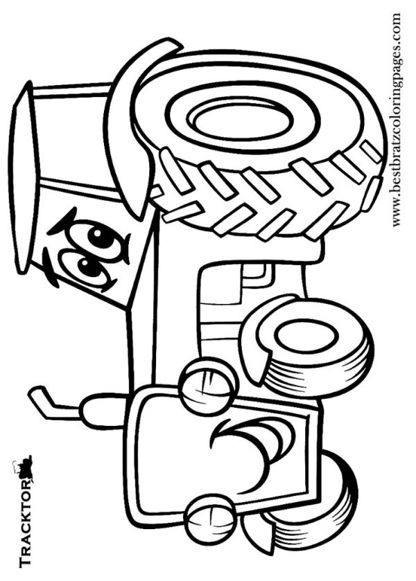 Free Printable Tractor Coloring Pages For Kids by Darras ...