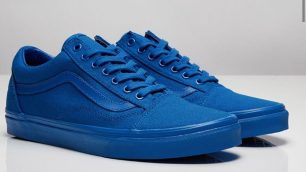 1ca8d83a12f4 Vans Old Skool Mono V4OJ5XT (Nautical Blue) blue canvas Street trainer men  5-13  Vans  CasualSneakers