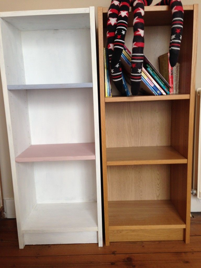 Upcycling an ikea bookcase using annie sloan chalk paint for Chalk paint muebles ikea