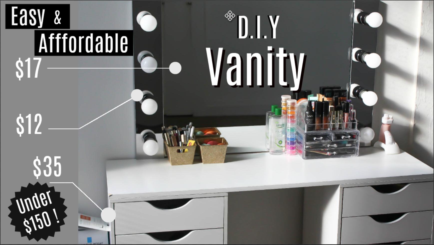 D I Y Vanity Desk Mirror W Led Lights Napturallyeverafter Diy Vanity Mirror Diy Vanity Diy Vanity Mirror With Lights