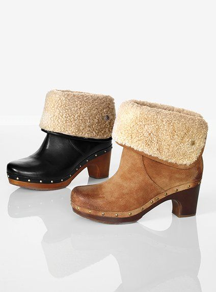 37af96adf29 UGG Australia Lynnea Clog Boot: Furry, folded, fab. This boot offers ...
