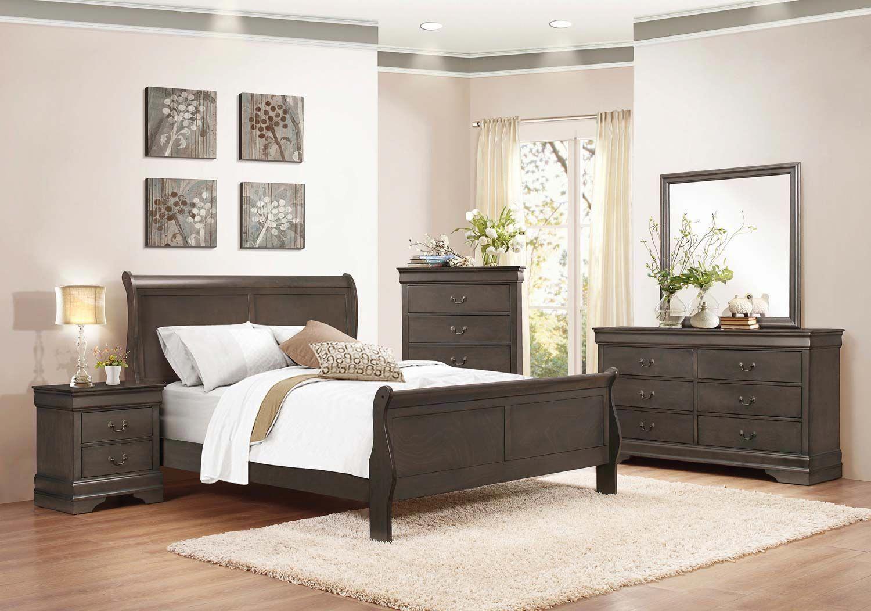 Homelegance Mayville Sleigh Bedroom Set Stained Grey Sleigh Bedroom Set Grey Bedroom Furniture Home Furnishings